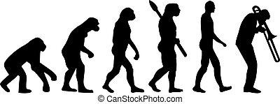 giocatore trombone, evoluzione