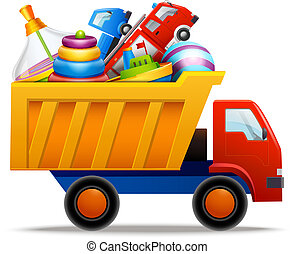 giocattoli, in, camion