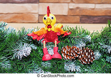 giocattolo, anno nuovo, gallo, 2017, simbolo