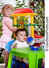 giocattolo, cucina, bambini