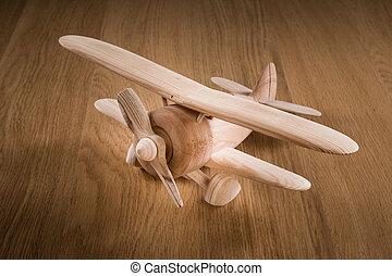 giocattolo legno, aereo