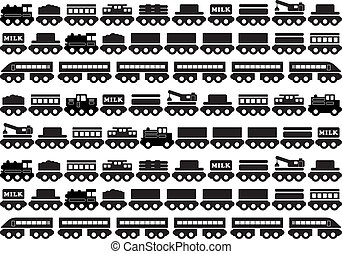 giocattolo legno, treno, icona
