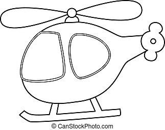 giocattolo, vettore, helicopter.