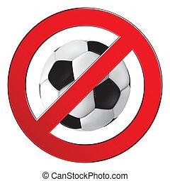 giochi palla, no, segno