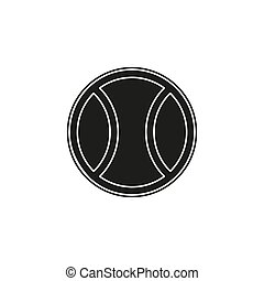 giochi palla, tennis, -, illustrazione, gioco, vettore, disegno, bianco, sport, icona