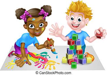gioco, bambini