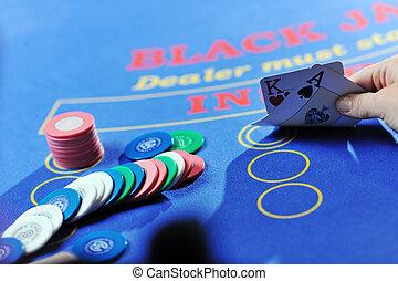 gioco, donna, gioco casinò, cricco nero, scheda