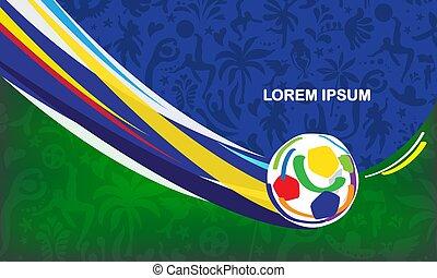 gioco, estate, copa, astratto, argentina, brasiliano, ...