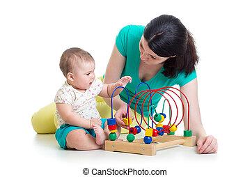 gioco, giocattolo, colorare, educativo, mamma, bambino