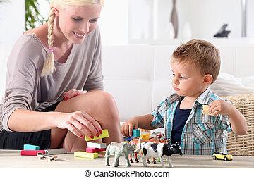 gioco madre, bambino