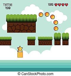 gioco, mostra, pixel