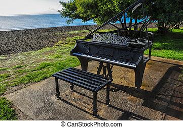 gioco, pubblico, pianoforte, in, frutillar, cile
