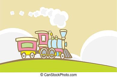 gioco retro, treno