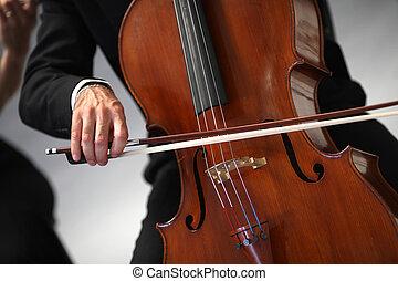 gioco, sinfonia, dettagli, musicisti