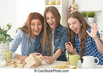 gioco tavola, asse, famiglia, gioco