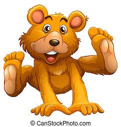 giocoso, orso marrone