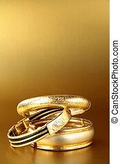 gioielleria oro, braccialetti, e, catene