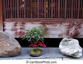 Gion Arrangement - a specific arrangement in a front of a...