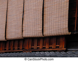Gion bamboo blinds - Detail of the specific bamboo blinds- ...