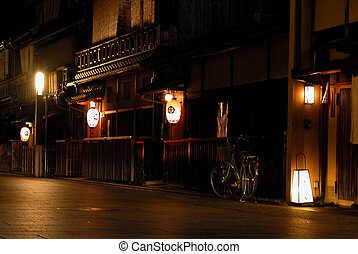 Gion By Night - a night view of the gion-geisha ward in ...