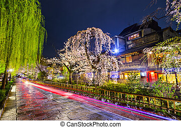 Gion District, Kyoto - Kyoto, Japan at the historic Gion...