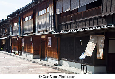 Gion district,Japan - KYOTO, JAPAN-JULY 14: One of the...