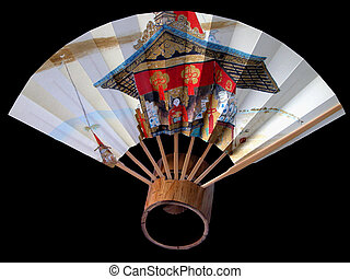 Gion fan - A characteristic fan for Gion Matsuri one of the ...