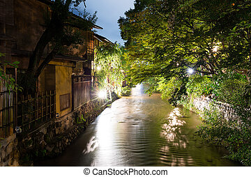 Gion in Kyoto at night