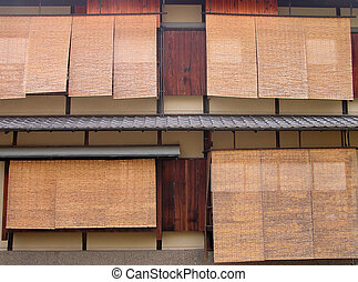 Gion windows - Specific windows with bamboo blinds in...