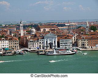giorgio, venecia, san, -, iglesia, torre, magiore, vista