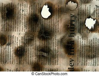 giornale, bruciato