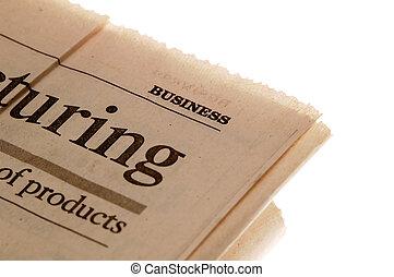 giornale, buisness, sezione