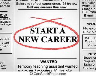 giornale, carriera, nuovo