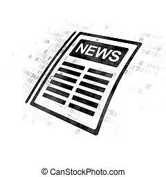 giornale, notizie, concept:, fondo, digitale