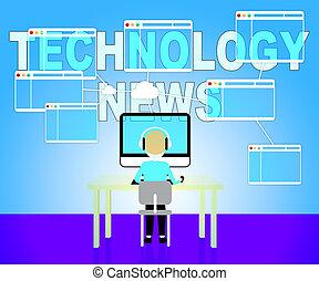 giornale, notizie, titoli, tecnologia, tecnologie, mostra