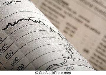 giornale, pagine finanziarie