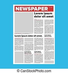 giornale, vettore, disposizione
