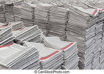 giornali, accatastare