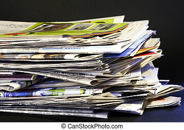 giornali, pila, quotidiano