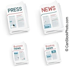 giornali, set