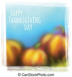 giorno, fondo, vettore, ringraziamento, autunno