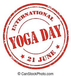 giorno, internazionale, yoga
