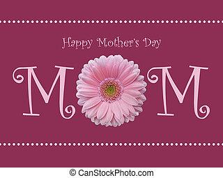 giorno madre felice, mamma, margheritina colore rosa