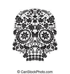 giorno, morto, cranio