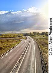 giorno pieno sole, autostrada