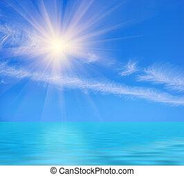 giorno pieno sole, oceano