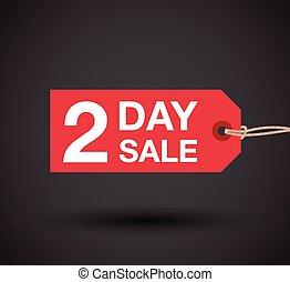 giorno, segno, vendita, due, sinistra