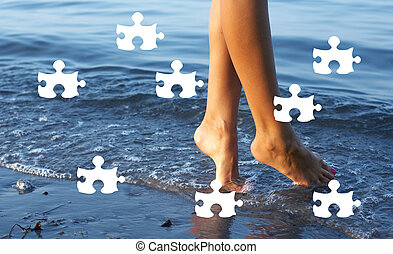giorno spiaggia, puzzle