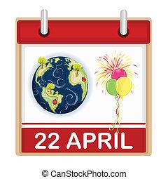 giorno, terra, celebrazione