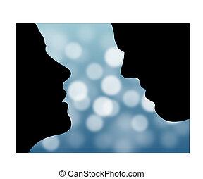 giorno valentine, coppia, illustrazione